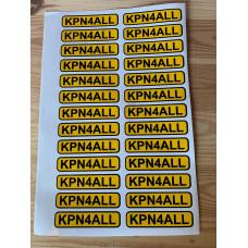 KPN4ALL - Stickervel