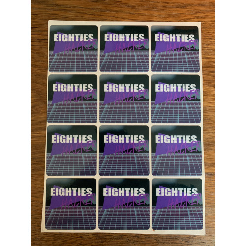 Eighties Hacker - Stickervel