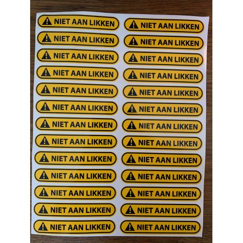 Niet aan likken - Stickervel