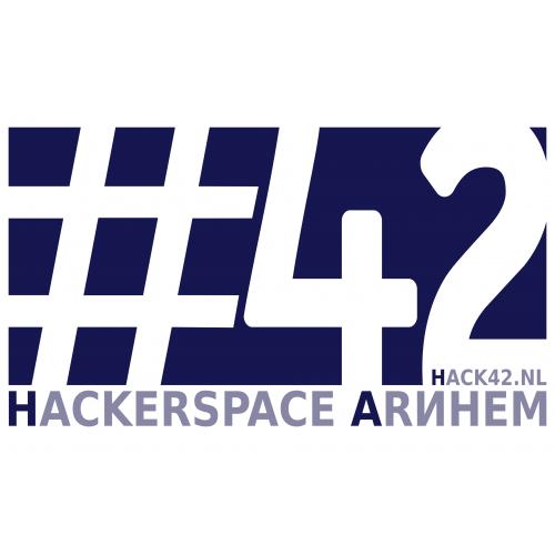 Hack42-logo - Stickervel